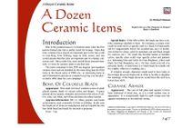 RPG Item: A Dozen Ceramic Items