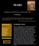 RPG Item: MARS: Exploration, Discovery, and Personal Conflict on Mars