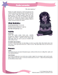 RPG Item: Costume Fairy Adventures Quickstart Edition Playbook: Pooka Lavender