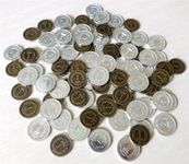 Board Game Accessory: Brass: Metal Coins