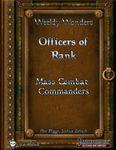 RPG Item: Officers of Rank: Mass Combat Commanders