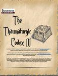 RPG Item: The Thaumaturgic Codex III