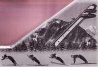 Board Game: Ski Sprung Spiel