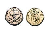 Board Game Accessory: Rattle, Battle, Grab the Loot: Metal Coins