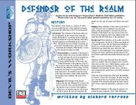 RPG Item: Defender of the Realm