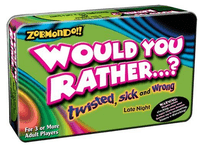 Board Game: Zobmondo!! Would you rather...? Twisted, sick and wrong. Late night.