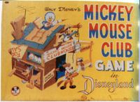 Board Game: Mickey Mouse Club Game In Disneyland