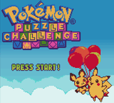 Video Game: Pokémon Puzzle Challenge