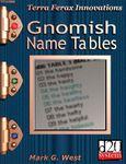 RPG Item: Gnomish Name Tables