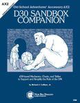 RPG Item: Old School Adventures Accessory AX2: d30 Sandbox Companion