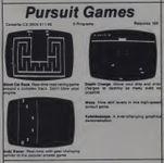 Video Game: Pursuit Games, CS-3004
