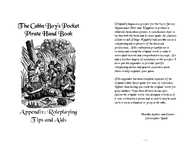 RPG Item: The Cabin Boy's Pocket Pirate Hand Book Appendix: Roleplaying Tips and Aids
