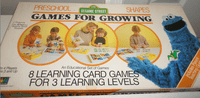 Board Game: Sesame Street Preschool Games for Growing-Shapes