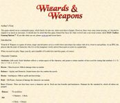 RPG Item: Wizards & Weapons