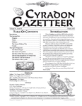 RPG Item: Cyradon Gazetteer Volume #1, Issue #1