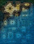 RPG Item: VTT Map Set 208: Temple of the Drowned Goddess