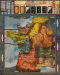 Board Game: FIEF France: Gameboard