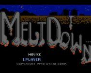 Video Game: MeltDown (Atari 7800)