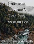 RPG Item: Items on an Adventurer's Dead Body