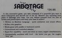 Video Game: Sabotage