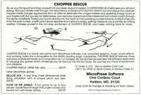 Video Game: Chopper Rescue