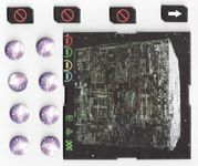 Board Game: Star Trek: Attack Wing – The Collective Month 1 Organized Play Borg Cube and tokens