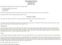 RPG Item: Plain English Role Playing