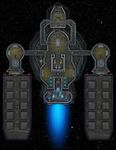 RPG Item: VTT Map Set 286: Starship Deckplan: Heavy Cargo Barge