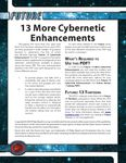 RPG Item: 13 More Cybernetic Enhancements