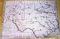Board Game: Railway Rivals Map TX: Texas