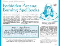 RPG Item: Burning Spellbooks