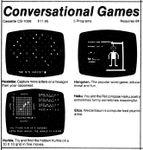 Video Game Compilation: Conversational Games, CS-1006