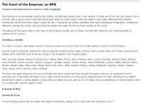 RPG Item: The Court of the Empress