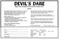 Video Game: Devil's Dare