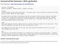 RPG Item: Survival of the Femmest