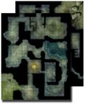 RPG Item: GameMastery Flip-Mat: Haunted Dungeon