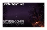 RPG Item: Coyote Won't Talk
