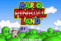 Video Game: Mario Pinball Land