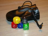 Board Game Accessory: Cyclades: Leather Dice Bag and 6 Dice