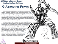 RPG Item: Bullet Points: 9 Armiger Feats