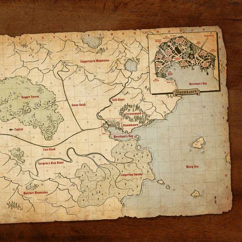 Gloomhaven world map