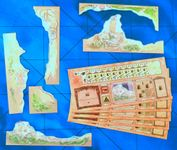 Board Game Accessory: Sails of Glory Terrain Pack: Coastal Batteries