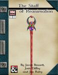 RPG Item: AA 001: The Staff of Reanimation