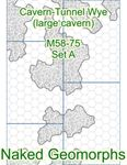 RPG Item: Naked Geomorphs: Cavern-Tunnel Wye Set A (Large Cavern)