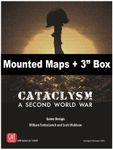 """Board Game Accessory: Cataclysm: A Second World War – Mounted Maps and 3"""" Box"""