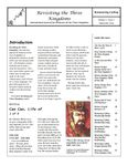 Issue: Revisiting the Three Kingdoms (Issue 1 - Nov 2001)