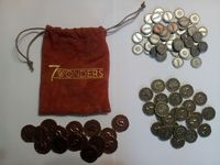 Board Game Accessory: 7 Wonders: Metal Coins
