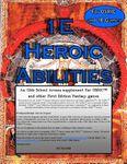 RPG Item: 1E Heroic Abilities