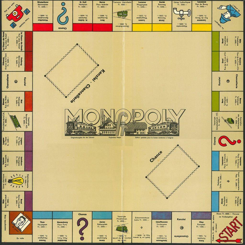 Monopoly Brettspiel Basteln Mit Papier Vorlagen