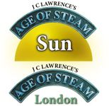 Board Game: Age of Steam Expansion: Sun / London